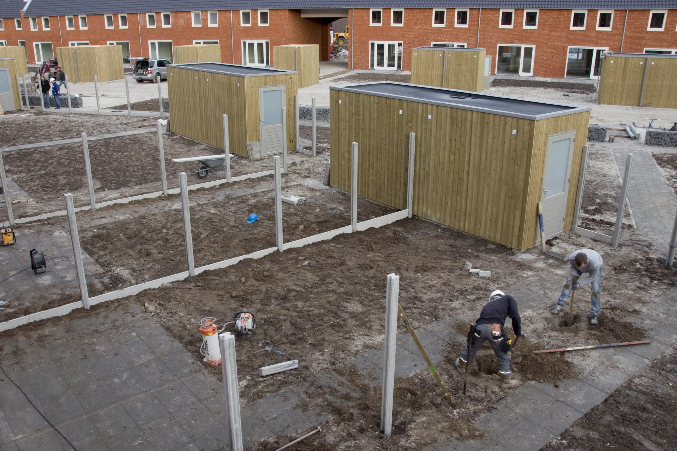 Schutting Tilburg woningbouw project